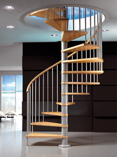 Venta y alquiler de cerramientos y acabados - Escaleras de caracol de madera ...