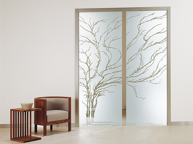 casali orchidea vetro para puerta corredera doble